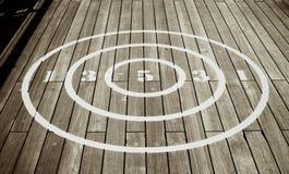 Circular Shuffle Board Target Royalty Free Stock Photos