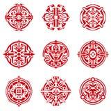 Circular Sigils. Collection of abstract circular sigils Stock Images