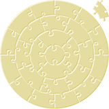 Circular simple puzzle Stock Images