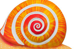 Circular of snails. Circular of orange snails, abstract snail Royalty Free Stock Images
