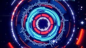 Circular spectrum analyzer Royalty Free Stock Image