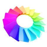 Circular spectrum range palette of glossy cards Royalty Free Stock Images