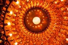 Circular spiral of lights Stock Photo
