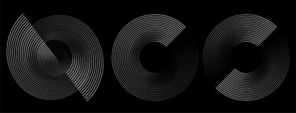 Free Circular Spiral Sound Wave Rhythm From Lines Stock Photos - 208978273