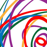 Circular spirally abstract pattern with colorful ellipses. Rando Stock Images