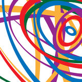 Circular spirally abstract pattern with colorful ellipses. Rando Stock Photo