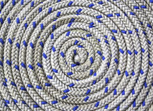Circular spirally of nautical rope Royalty Free Stock Photography