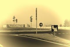 Circular Square in Mist Stock Image
