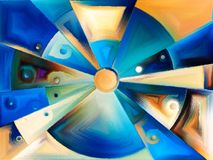 Circular stained glass design Royalty Free Stock Photo