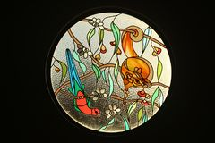 Circular Stained Glass Window Royalty Free Stock Photos