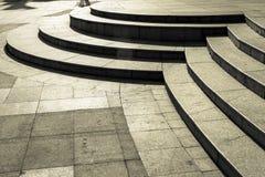 Circular stair in dark Stock Image