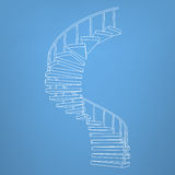 Circular staircase blueprint development background vector Royalty Free Stock Images