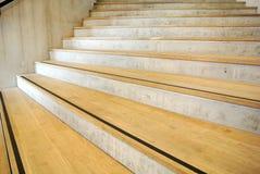 Circular staircase. The brown wooden circular staircase Stock Image