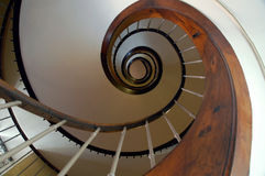 Circular staircase. In a hotel in France royalty free stock photography