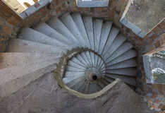 Circular staircase with steps Royalty Free Stock Photo