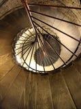 Circular stairs. Fragment of the ancient circular stairs Stock Photos