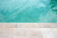 Circular Stairs in a Swimming Pool Stock Photos