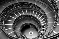 Circular stairs in Vatican Stock Images