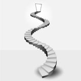 Circular stairway leading to heaven door. Vector illustration Stock Image