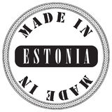 Circular stamp is made in Estonia Stock Photography