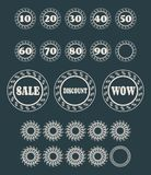 Circular stamps for retail business Royalty Free Stock Images