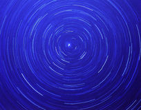 Circular Star Streaks,. Circular star streaks caused by a long exposure and pointing the camera towards the North Star Royalty Free Stock Photo