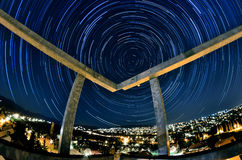 Circular star trail Royalty Free Stock Photography