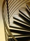 Circular steps. And rail with sepia toning Royalty Free Stock Image