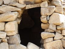 Circular stone wall. With hole in the middle, Saudi Arabia Royalty Free Stock Images