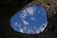 Circular stone wall Stock Photography