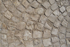 Circular stony pavement. Abstract picture of a circular pattern on the pavement Stock Photo