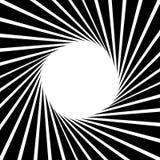 Circular, stripes lines geometric pattern. Monochrome illustrati Royalty Free Stock Image