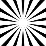 Circular, stripes lines geometric pattern. Monochrome illustrati Royalty Free Stock Photo