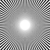 Circular, stripes lines geometric pattern. Monochrome illustrati Stock Photo