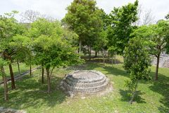 Becan archaeological park in Yucatan Mexico stock photography