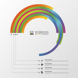 Circular stylish multicolor round. Infographic design template. Vector illustration Stock Photo