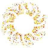 Circular sun round frame border Royalty Free Stock Image
