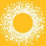 Circular Sun Spots Round Frame Border Royalty Free Stock Photos