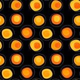Circular sun spots seamless background Royalty Free Stock Photos