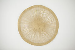 Circular sushi mat. Against white background Royalty Free Stock Photography