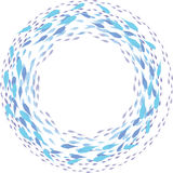 Circular swimming fish frame illustration. On white  background Royalty Free Stock Image