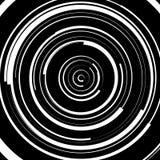 Circular swirl, spiral illustration - Random concentric circles. Royalty free vector illustration Stock Image
