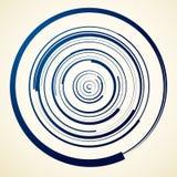 Circular swirl, spiral illustration - Random concentric circles. Royalty free vector illustration Royalty Free Stock Image