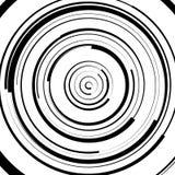 Circular swirl, spiral illustration - Random concentric circles. Royalty free vector illustration Royalty Free Stock Photo