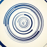 Circular swirl, spiral illustration - Random concentric circles. Royalty free vector illustration Stock Photography