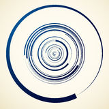 Circular swirl, spiral illustration - Random concentric circles. Royalty free vector illustration Royalty Free Stock Images