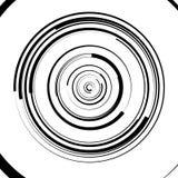 Circular swirl, spiral illustration - Random concentric circles. Royalty free vector illustration Royalty Free Stock Photos