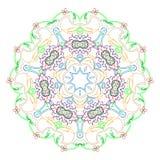 Circular symmetric mandala on white background. Illustration of pattern coloring royalty free illustration
