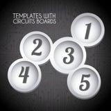 Circular templates Stock Images