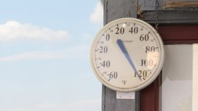 Too hot for the thermometer royalty free stock photo